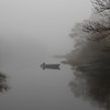 Dinghy in the fog, St George, Maine