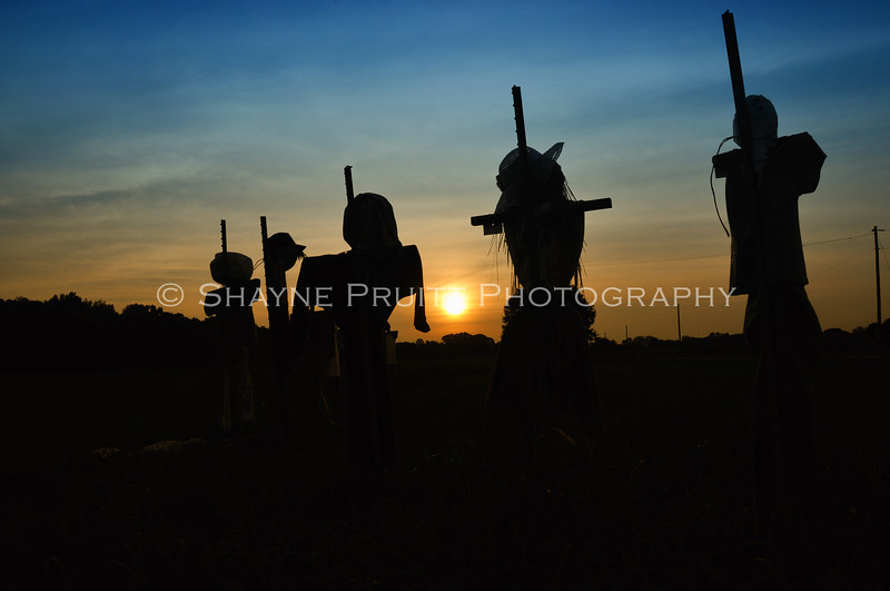 Scarecrows at Sunset, Hoschton, Georgia