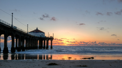 Manhattan Beach Pier Sunset 2