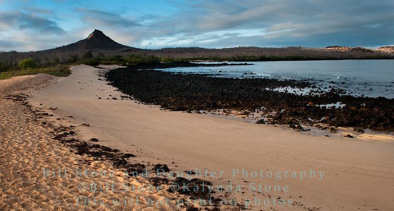 Beach Scene -Cerro Dragon-Galapagos