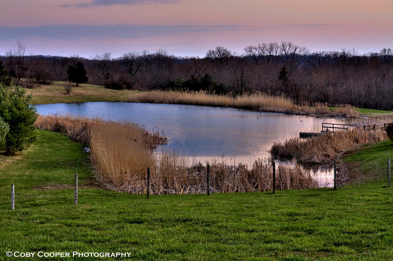 March 29, It finally warmed up this weekend and I think the snow may be behind us....this is a shot of a neighbor's pond from last evening