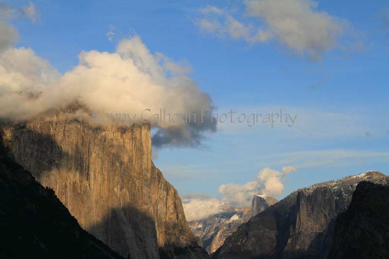 El Capitain and Half Dome