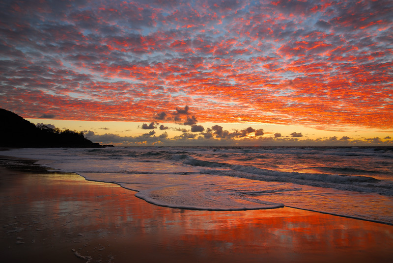 Sunshine Beach sunrise. Sunshine Coast, Queensland.
