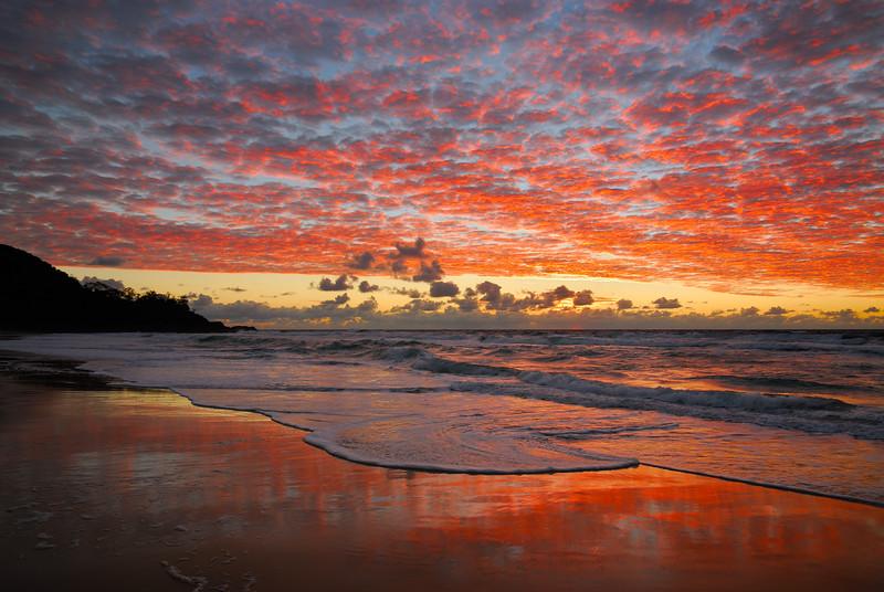 Sunshine Beach sunrise. Sunshine Coast, Queensland.
