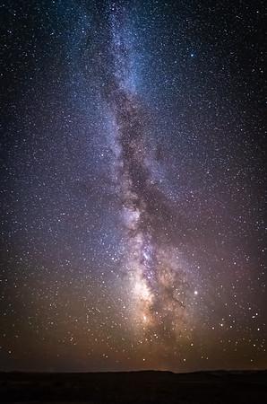 Galactic Center Rising in the Desert