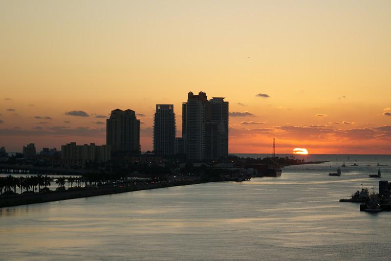 Sunrise over Miami