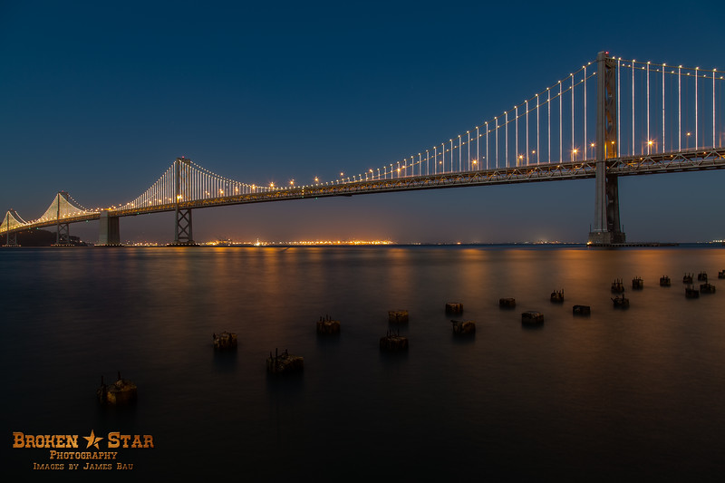 Bay Bridge @ sunset.  San Francisco, California