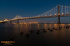 Bay Bridge @ sunset.  San Francisco, California