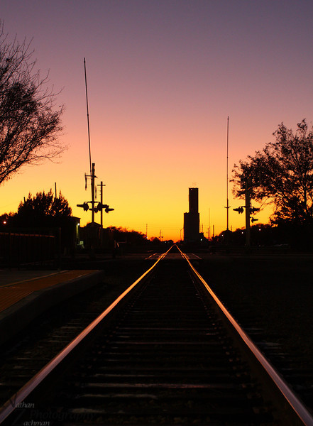 End of a long day, sunset at Lamar Colorado.