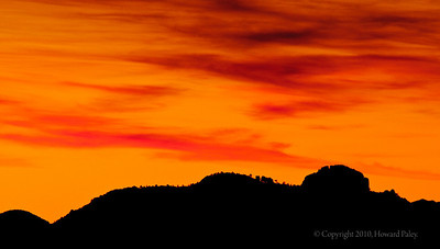"""Ridgeline at Sunset"", Windy Point Vista, Mt. Lemmon, Arizona"