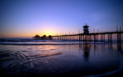 Sunset, Huntington Beach Pier