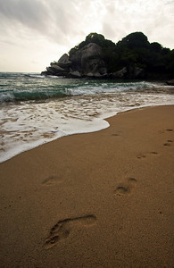 Footprints in Tayrona