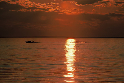 Sunset Water Skier, Pigeon Lake, Alberta