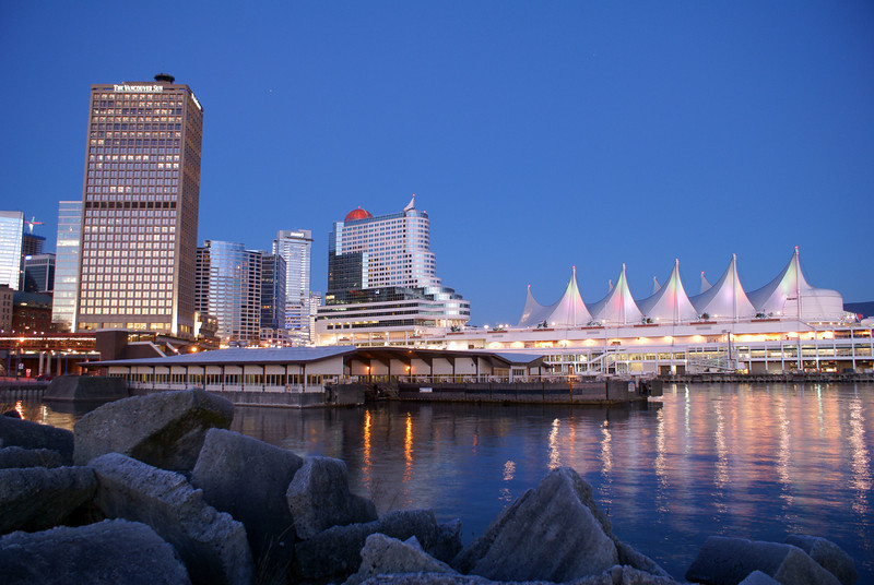 Canada Place at dawn.