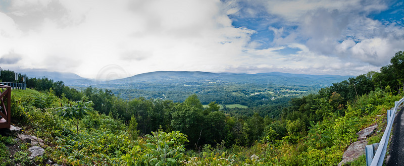 A wonderful view, before the rains!<br /> <br /> Pano from the switchback, Rt2 East above North Adams, MA