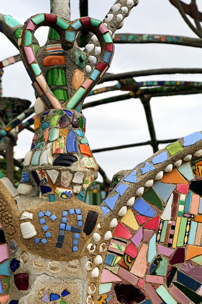 Watts Towers: Tile Heart and Inititals