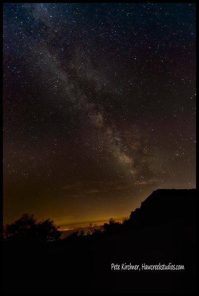 Milky Way over Black Mt, NC
