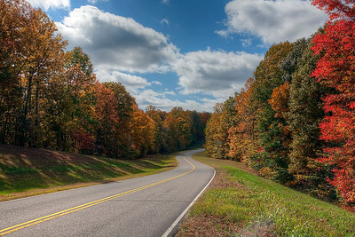 Autumn colors along the Natchez Trace Parkway near Leiper's Fork, TN