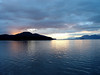 Susset on the Gastenau Channel north of Juneau, Alaska