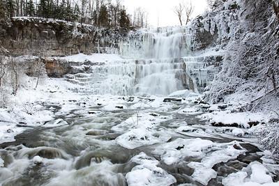 Winter at Chittenango Falls