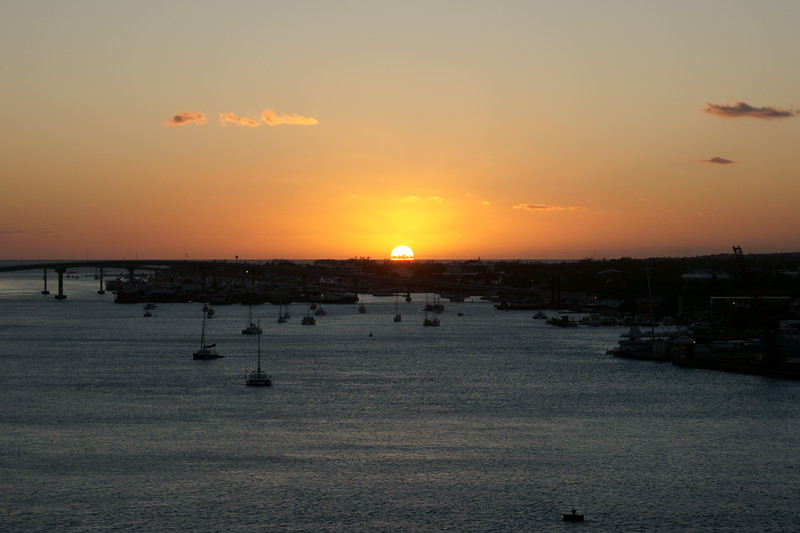 Sunrise over St Thomas USVI. Tropical sunrise!