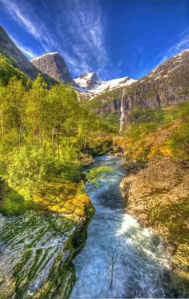 Mountain glacier norway
