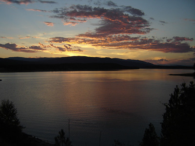 Koocanusa Lake Sunset, August 2004
