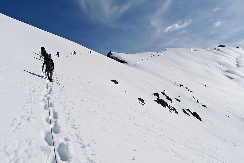 A traverse on the way to Little Devil.