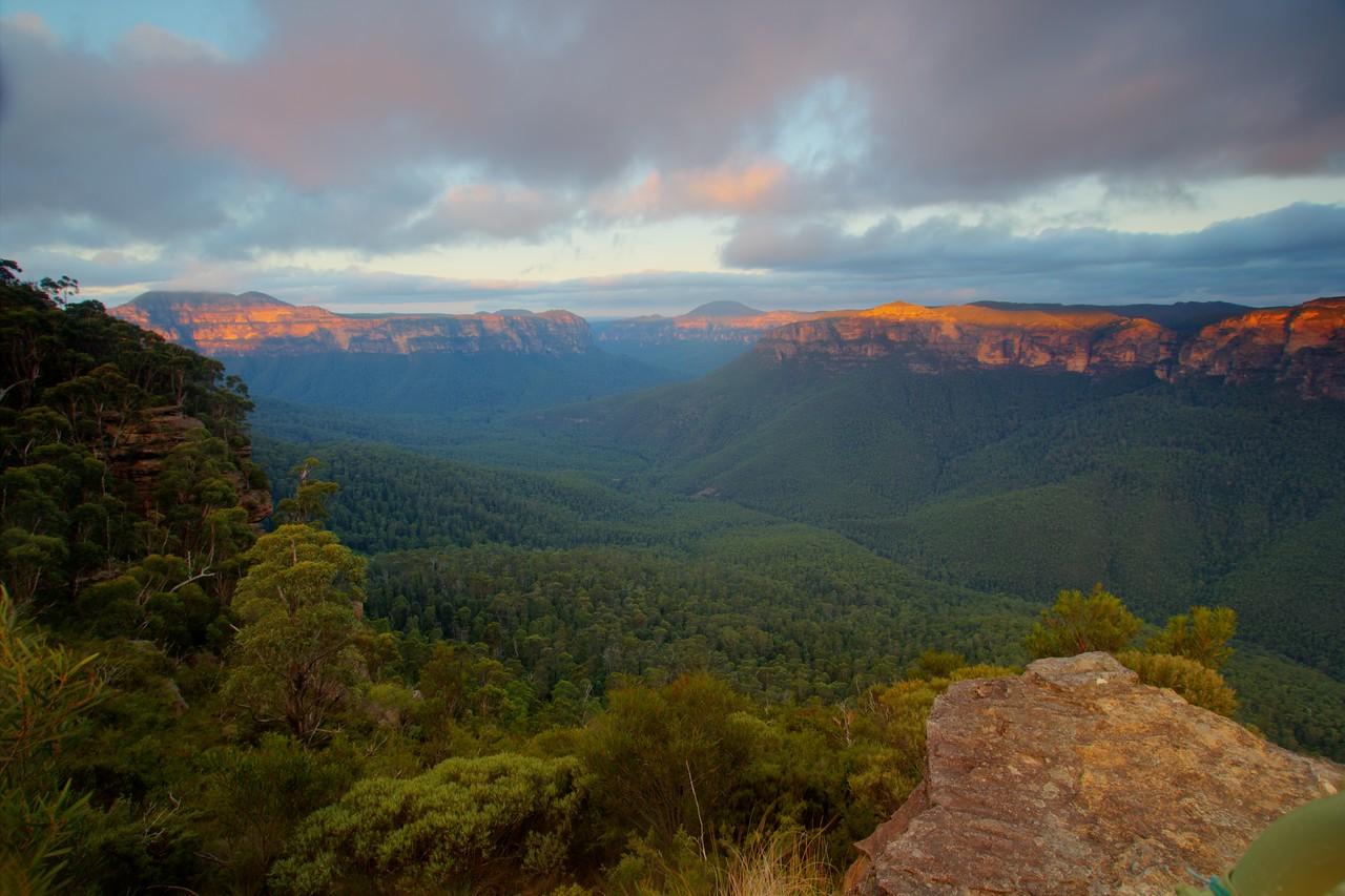 Grose valley twilight
