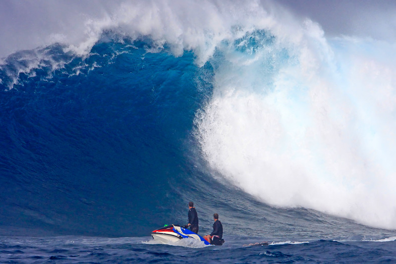 "Wave Images - ""Beautiful Monster"" - Peahi (Jaws Beach) - Island of Maui, Hawaii"