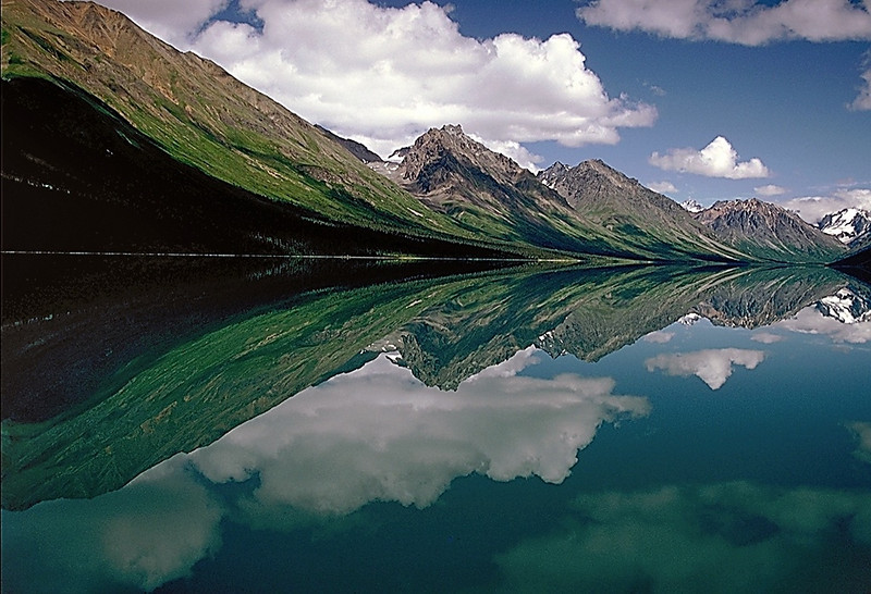 Reflection, Twin Lakes, Lake Clark National Park, Alaska