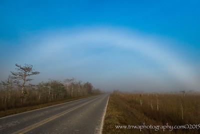 Somewhere ... Over the Fog Bow Everglades National Park Florida © 2015