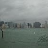 Miami skyline in the mist