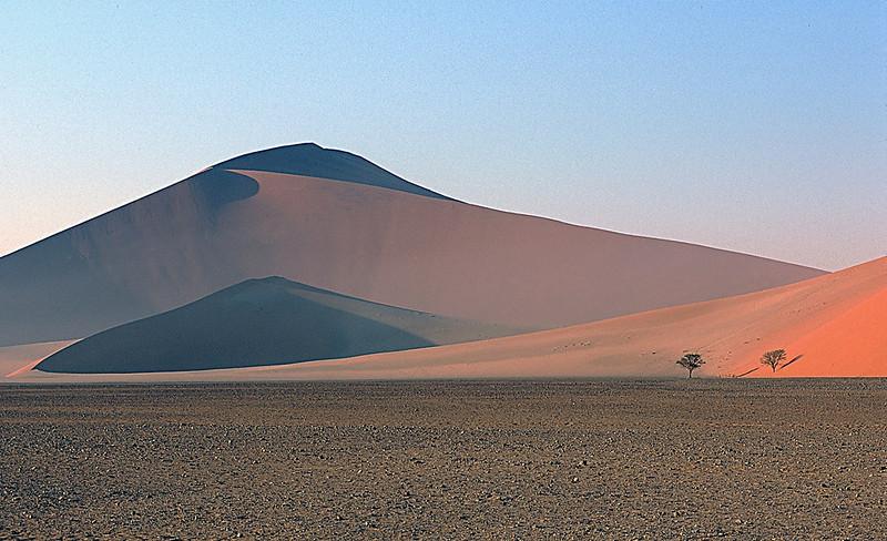 Dune and shadows, Sossusvlei, Namib National Park, Namibia