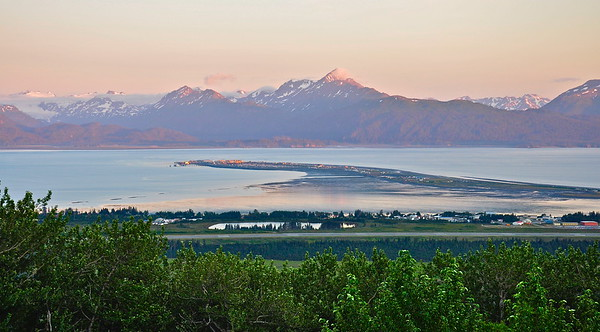 Homer Spit in Kachemak Bay Alaska