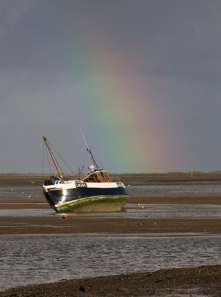 rainbow on the norfolk coast. 5 minutes after this it had disappeared