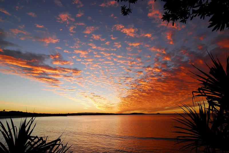 Laguna Bay sunset, Noosa Heads, Queensland.