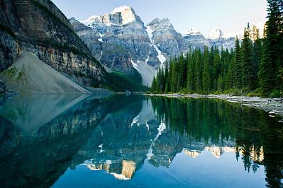 Mirror, Mirror Moraine Lake, Banff National Park Alberta, Canada © 2011