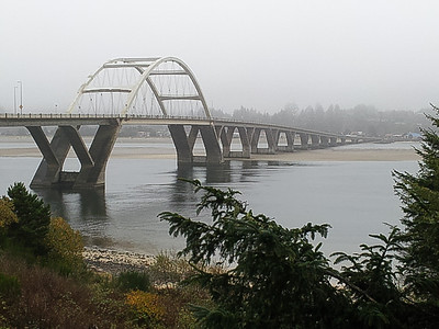 Bridge over Alsea Bay on U.S. Route 101, Oregon.  Nov 2012