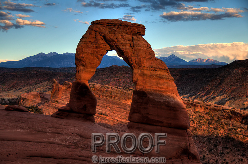 Sunset at Delicate Arch