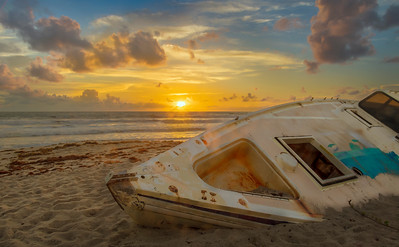 Sunrise and the Shipwreck