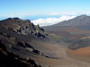 A view looking north into the caldera of the Haleakala Volcano on Maui, Hawaii. We are standing over 10,000 ft in elevation.