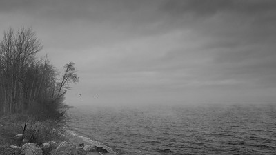 A gray day on Lake Superior - Upper Peninsula, MI, USA
