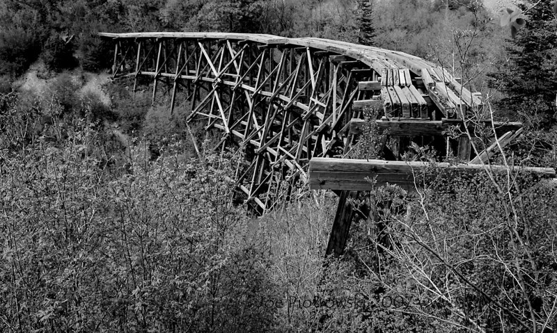 Abandoned tressle near Cloudcroft,NM.
