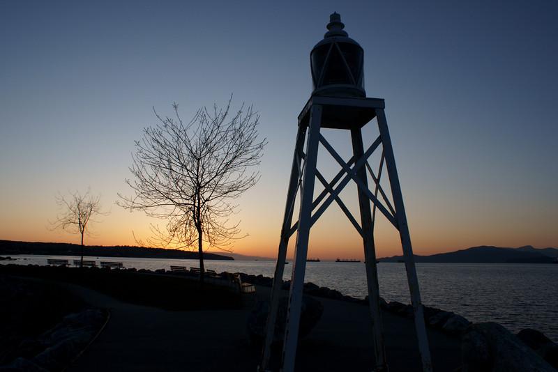 Sunset and navigation light