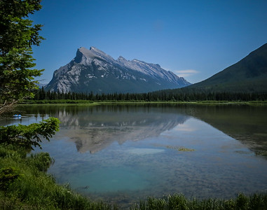 Vermillion Lake in front of Mount Rundle, Banff National Park. July, 2018.