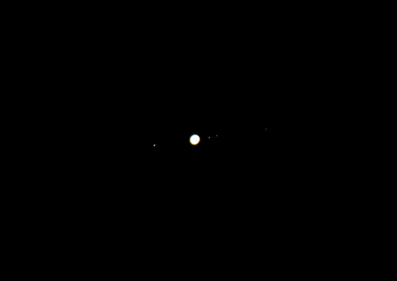 Jupiter with moons. Not really a landscape but what the hell!