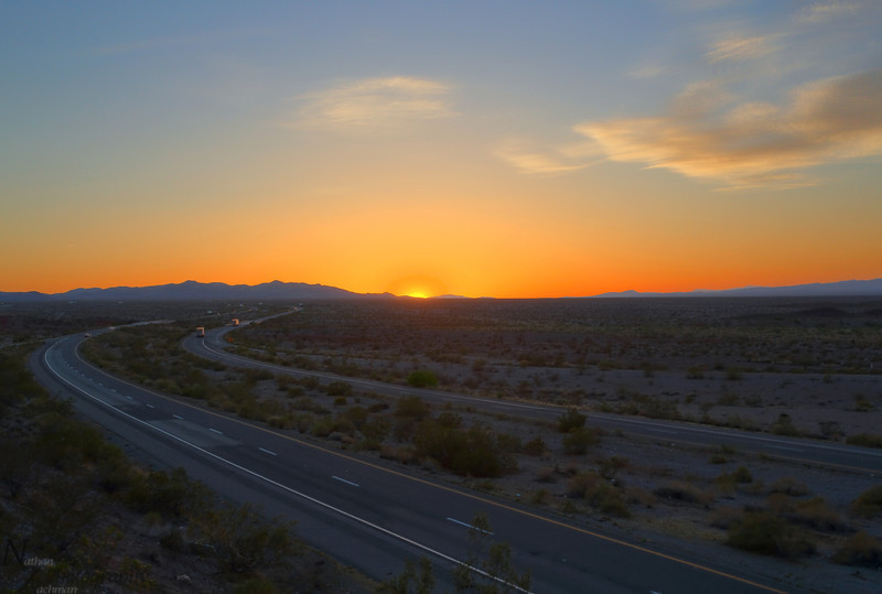 California Sunset near the Arizona State Line