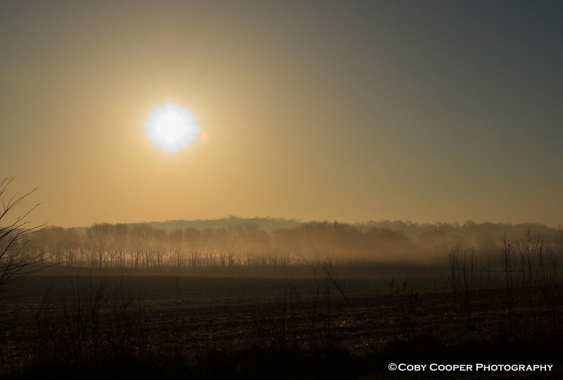 April 19, A morning fog hangs over a newly plowed field. Cooler temps in recent mornings after very warm days have made this a regular occurrence.
