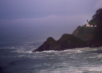 Stormy Sea at Heceta Head